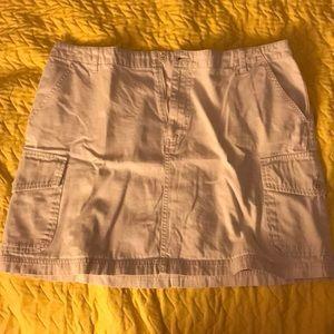 Khaki Mini Skirt